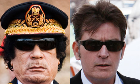 Moammar Gaddafi and Charlie Sheen